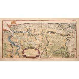 Rare antique map Surinam Paramaribo, S. America Bellin
