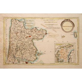 1791 ANTIQUE MAP NORTH HOLLAND WEST FRIESLAND FRANZ VON REILLY 1795