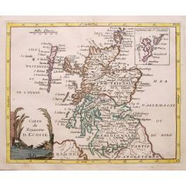 Antique map of Scotland Shetland Islands by De Laporte 1786