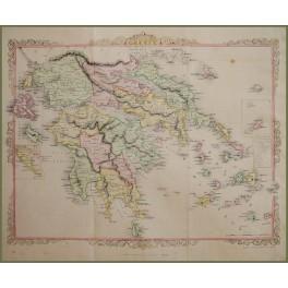 1860 antique map Greece Ionian Islands by Rapkin