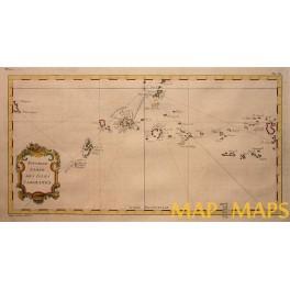 Caroline Island Micronesia New Guinea antique map Bellin 1757