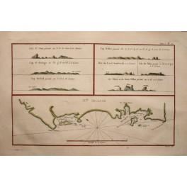 Thomas Cook. Papua New Guinea, New Ireland, antique map 1774