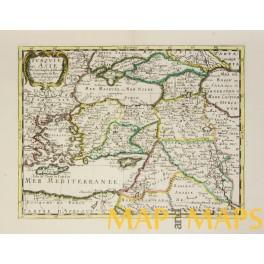 Turkey Cyprus TURQUIE en ASIE antique map-Sanson 1652