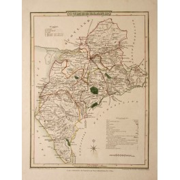Cumberland UK antique map by George Cole 1810