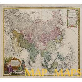 ASIA-RUSSIA-INDONISIA-OLD MAP BY: HOMANN, JOHANN BAPTIST 1744