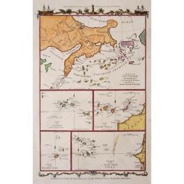 Alaska Madera Canary Azores Atlantic Ocean Islands 1779 map