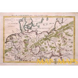 1762 Roman period map Germany Poland Friesland