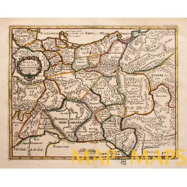 1729 Historical map of Germany, Roman Emperors, Cluver.