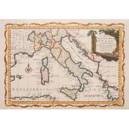Italy Sicily Corsica Sardinia antique Condor map 1779