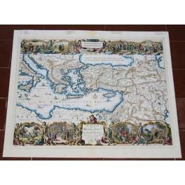 Mediterranean Bible Map, Apostle Paul Stoopendaal 1702