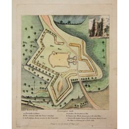 Berkshire, England, plan of Donnington Castle, 1776