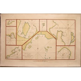1773 Antique map Chile Island Dolphin Bay Capt.Cook Voyages
