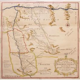 Carte du Cours des Rivieres de Faleme Bellin map 1757