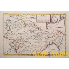 India Mongolia Tibet China antique map by Boone 1780