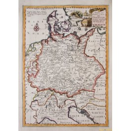 1780 antique map Holland, Belgium, Germany by Zannoni