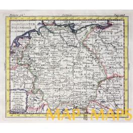 L' ALLEMAGNE antique map by N. BION PARIS 1720