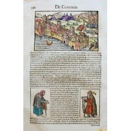 BATTLE OF MODON OTTOMAN EMPIRE VENICE REPUBLIC MUNSTER LEAF 1550