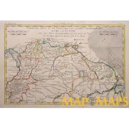 Kingdoms South America Panama antique map Boone 1780