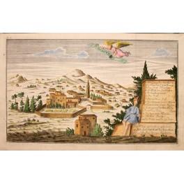 1740 Antique engraving of Nazareth, Holy Land Galilee