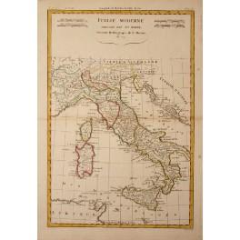 1779 Antique map Italy Sicily Sardinia Corsica by Bonne