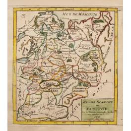 1748 Original Russia Ukraine Lapland map VAUGONDY