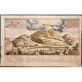 1740 Bible engraving, Ascension of Jesus Christ.