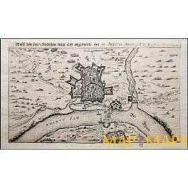 WESEL REES HISTORY GERMANY ANTIQUE TOWN PLAN DE FER 1629 i