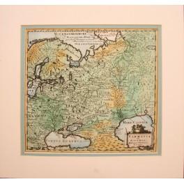Samatia Russia Ukraine Finland map by Phillip Cluver 1697