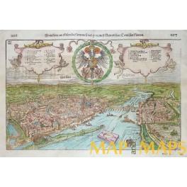 Frankfurt am Main, Cosmographiae Universalis Woodcut/Sebastian Munster 1548