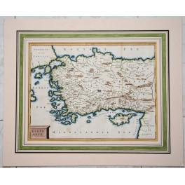 Turkey Cyprus, Antique Dutch Bible map. 1700 Cellarius