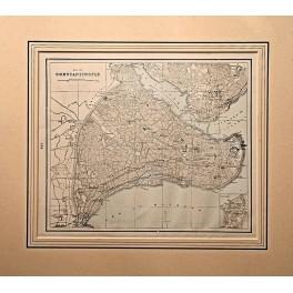 Constantinople Greek Turkish Golden Horn map 1894