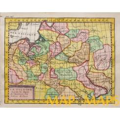Poland Livonia in the 18th Century, old map Vaugondy c.1750