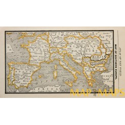 Map of Southern Europe Origin Atlas of the World 1900