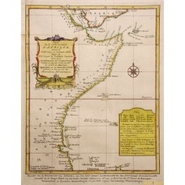 1740 Colonial map of the East Cost Africa by van Schley
