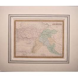 1877 antique map Turkey, Armenia, Cyprus by Vuillemin