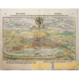 Germany Trier in 1550 Woodcut/Sebastian Munster 1600