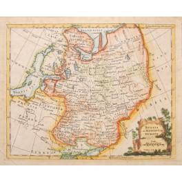 Russia or Moscovy Lithuana Poland map by Jefferys 1754