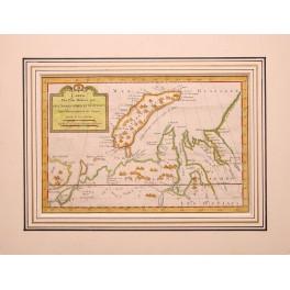 Yuzhny Severny Islands Nova Zembla map by Bellin 1750