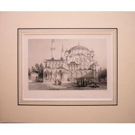 1836 Ottoman print, Sultan Selim Scutaru Selim I Mosque