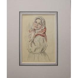 Russian women, Fine antique print c. 1880