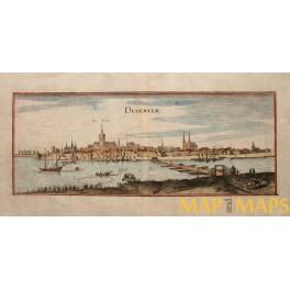 1699 ANTIQUE ENGRAVING. DEVENTER HOLLAND BY MERIAN