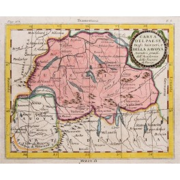 Savoy Swiss Carte a Del Paese antique map Buffier 1761