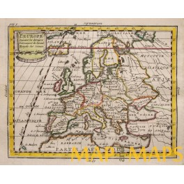 Europe L'Europe antique map by Buffier 1744
