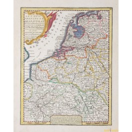 PAYS-BAS HOLLANDE FLANDRE map by Chiquet 1719