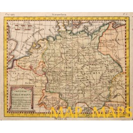 GERMAN EMPIRE ANTIQUE MAP BY BUFFIER JACQUIER 1791