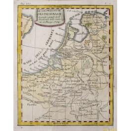 The XVII Dutch Belgium Province antique map Buffier 1714