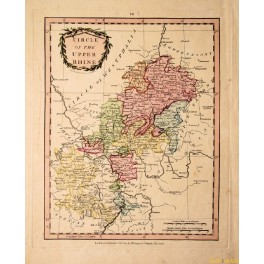Circle of the Upper Rhine, Germany, 1801 antique map