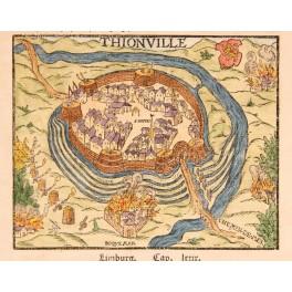 Thionvill Diedenhofen Diddenuewen France Woodcut 17th Century Munster
