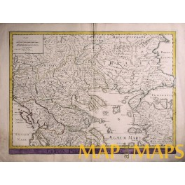 Greece Bulgaria Graeciae Pars Septentrionali Delisle 1794.
