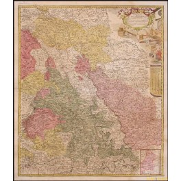 DUCATUS IULIACI & BERGENSIS GERMANY ANTIQUE MAP BY HOMANN HEIRS 1730